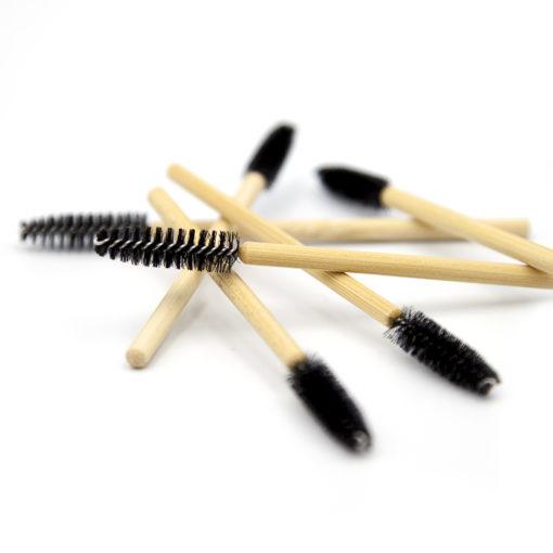 Bamboo disposable medium mascara wand