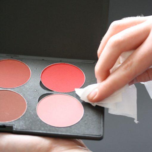 Antibacterial makeup sanitizer spray