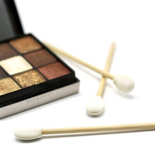 eco-friendly bamboo disposable eyeshadow applicator
